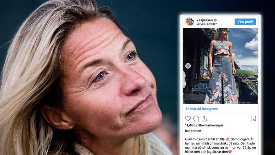 Kristin Kaspersens midsommarklädsel för att hylla mamma Barbro.