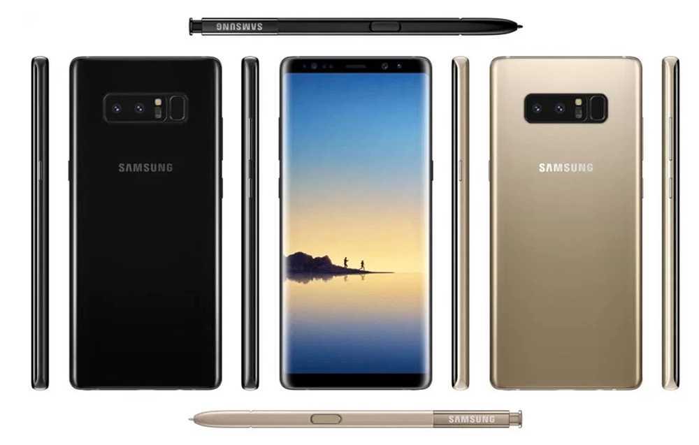 Läckta bilder på Samsung Galaxy Note 8