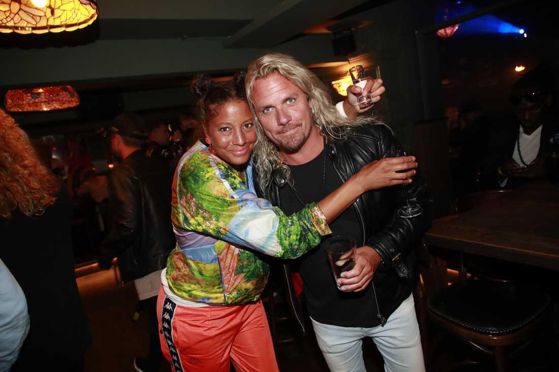 "Jessica Folcker och Christian ""Kicken"" Lundqvist."