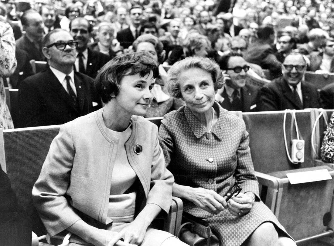 Socialdemokraternas partikongress. Lisbeth Palme, och Aina Erlander.
