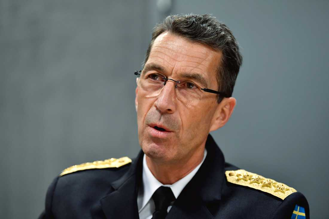 Överbefälhavare Micael Bydén.