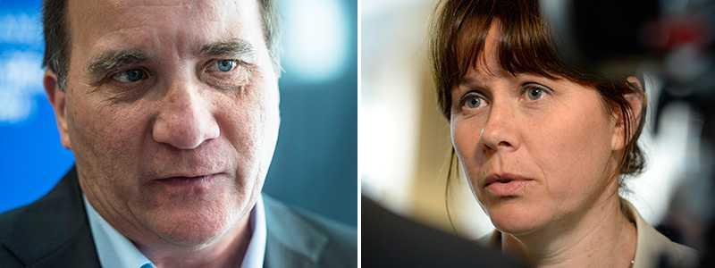 Stefan Löfven och Åsa Romson.