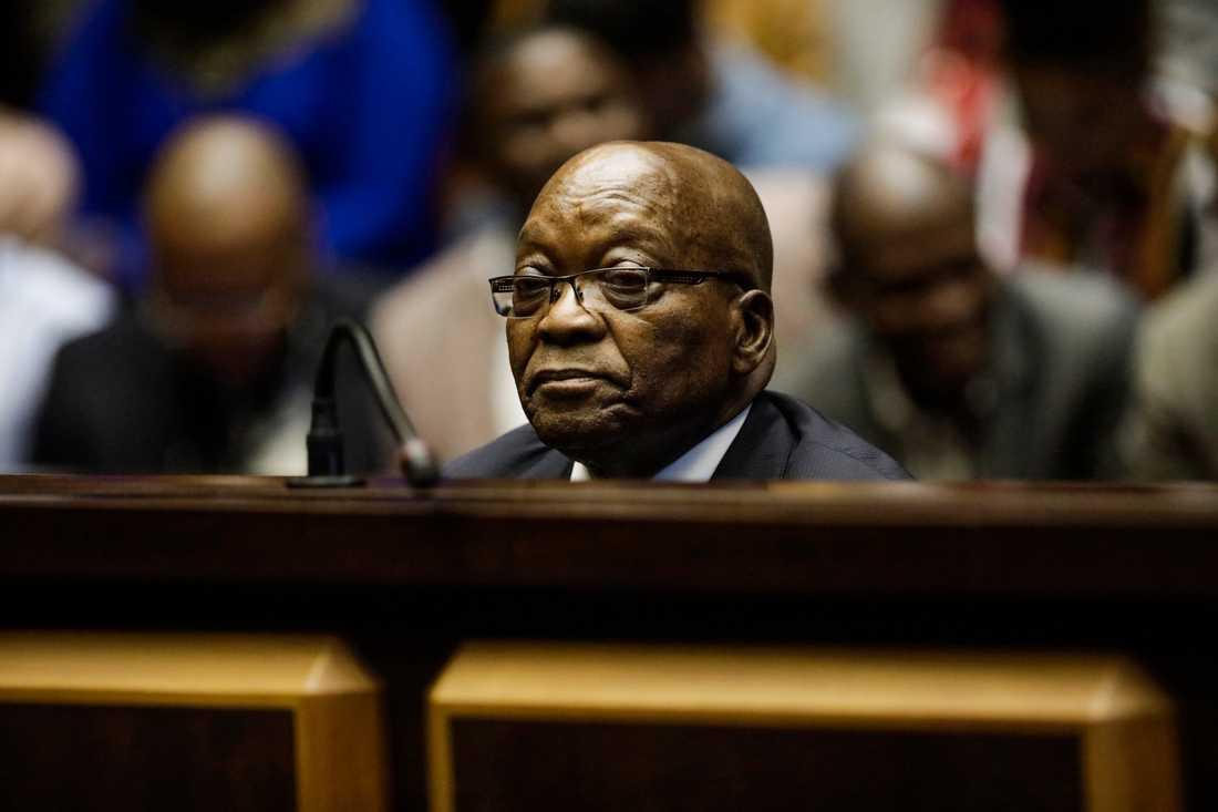 Sydafrikas tidigare president Jacob Zuma i domstolen för några månader sedan.