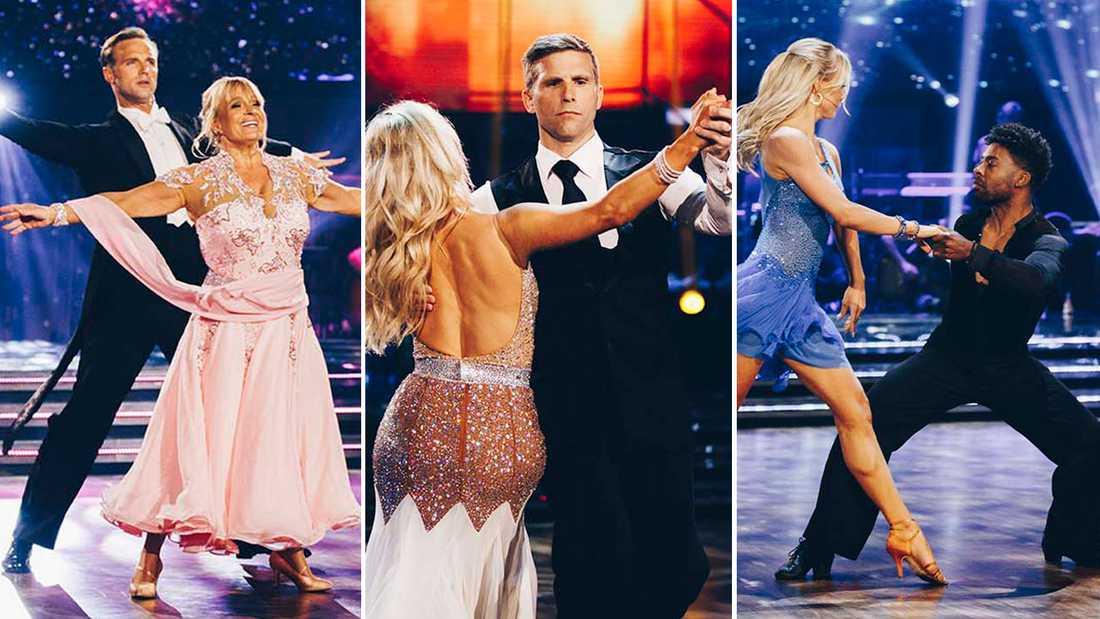 """Sussie Eriksson, Anders Svensson och John Lundvik är kändisarna som gjorde upp om finalplatserna i """"Let's dance"""" 2020."""
