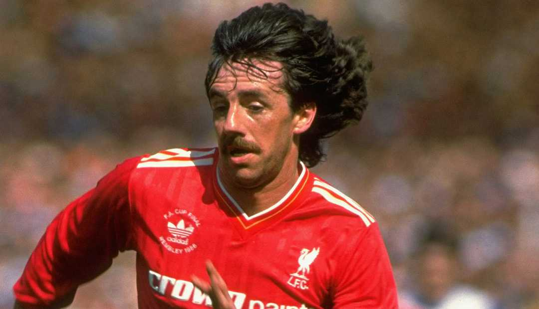 Mark Lawrenson i Liverpool-tröjan.