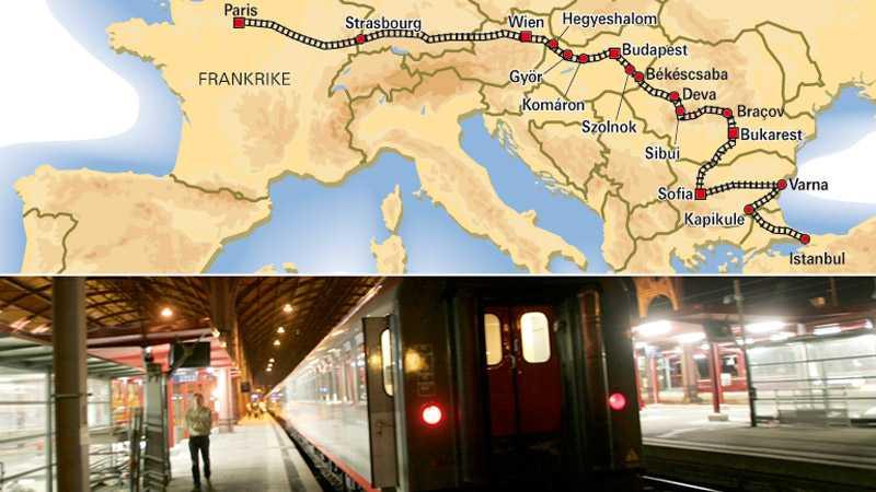 Karta Tyskland Tag.Guide Till Orientexpressen Taget Mellan Paris Och Istanbul