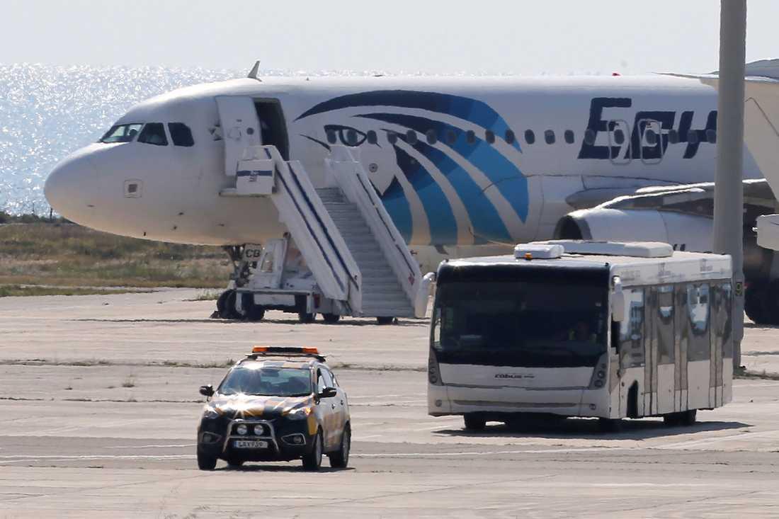 Flygplanet som kapades kom från Egypten.