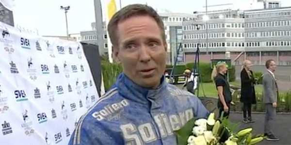 Björn Goop efter segern i Svenskt Trav-Oaks.