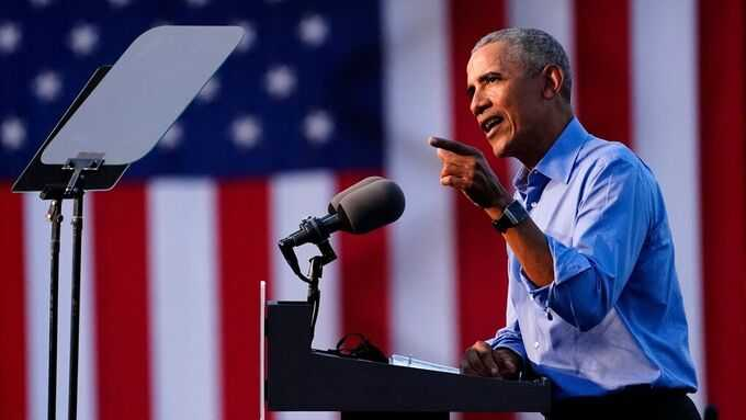 USA:s före detta president Barack Obama gick till hård kritik mot Donald Trump.
