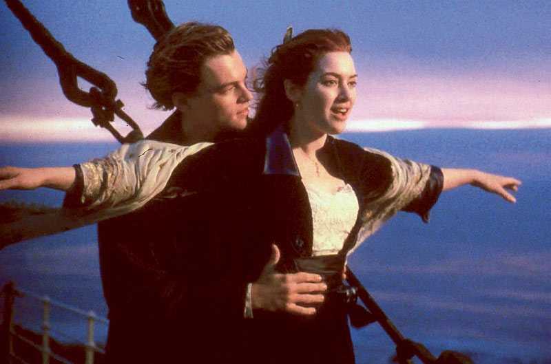 """Leonardo DiCaprio och Kate Winslet i """"Titanic"""" från 1997."""
