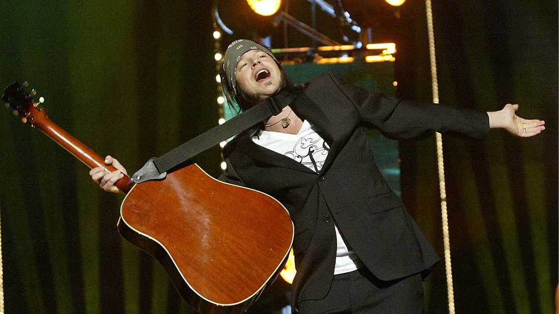 Karl Martindahl i Melodifestivalen.