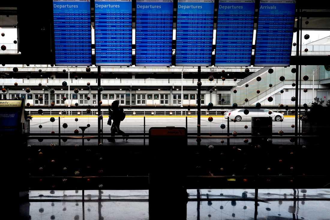 En man har gripits sedan han gömt sig på flygplatsen O'Hare i Chicago i USA i tre månader. Arkivbild.