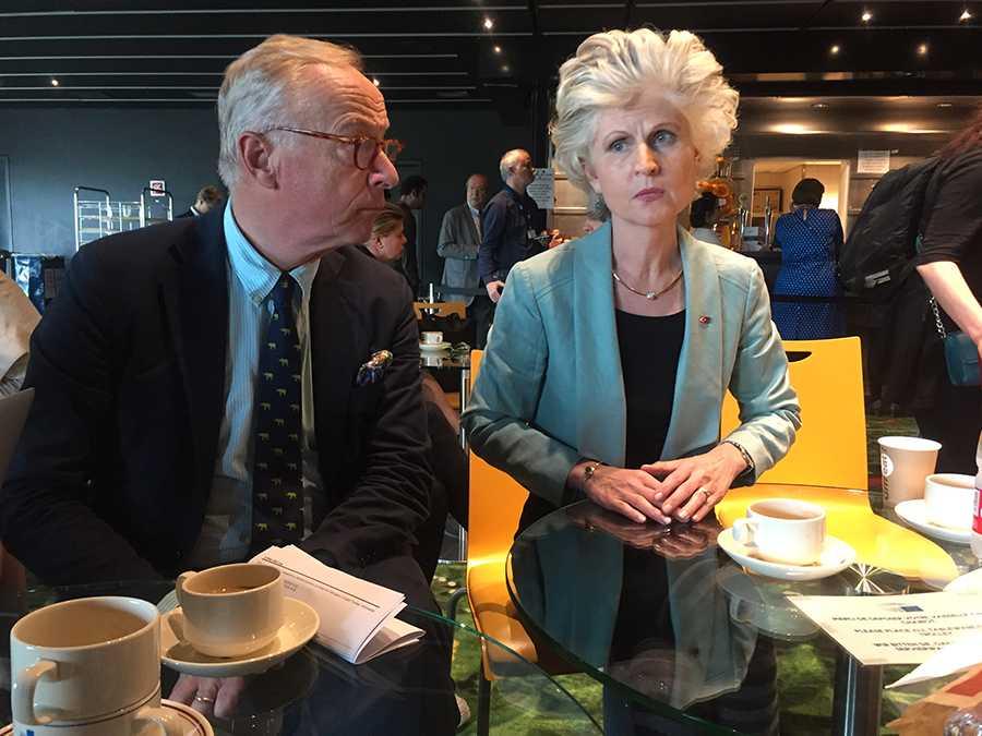 Gunnar Hökmark och Anna Maria Corazza Bildt.