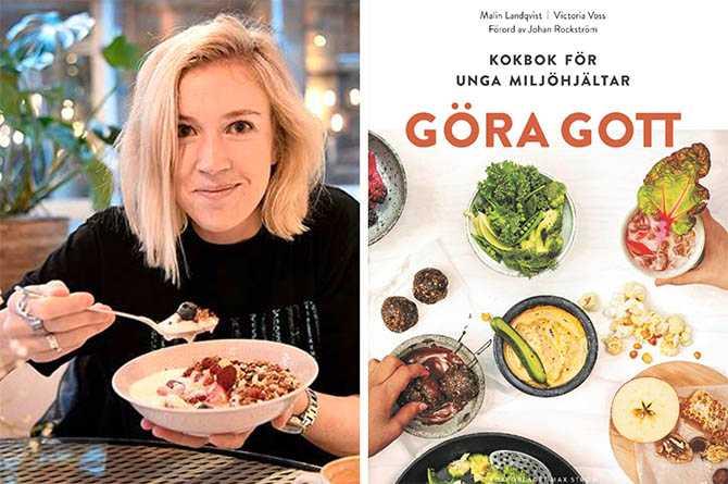 """Miljöforskaren Victoria Voss Bignet med nya kokboken """"Göra gott"""" för unga."""