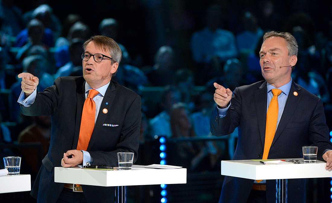Göran Hägglund (KD) och Jan Björklund (FP) pekar åt samma håll.
