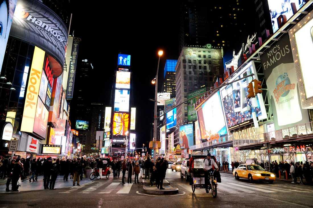 Times Square i New York. Arkivbild från 2011.