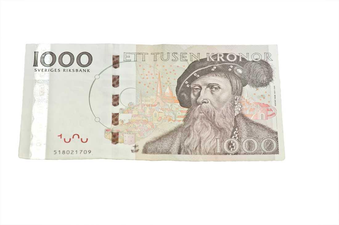 1000-kronorssedeln är giltig till och med 30 juni 2016.