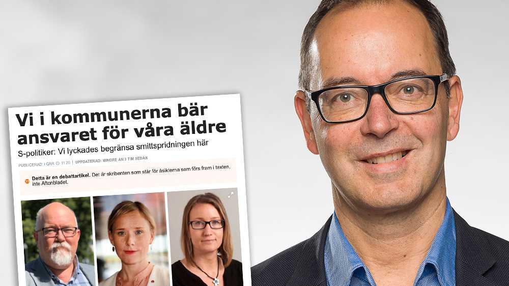 Kommunerna borde fått tagit ett större eget ansvar i hanteringen av smittspridningen på äldreboenden i coronapandemin, skriver Stefan Hanna (UP).