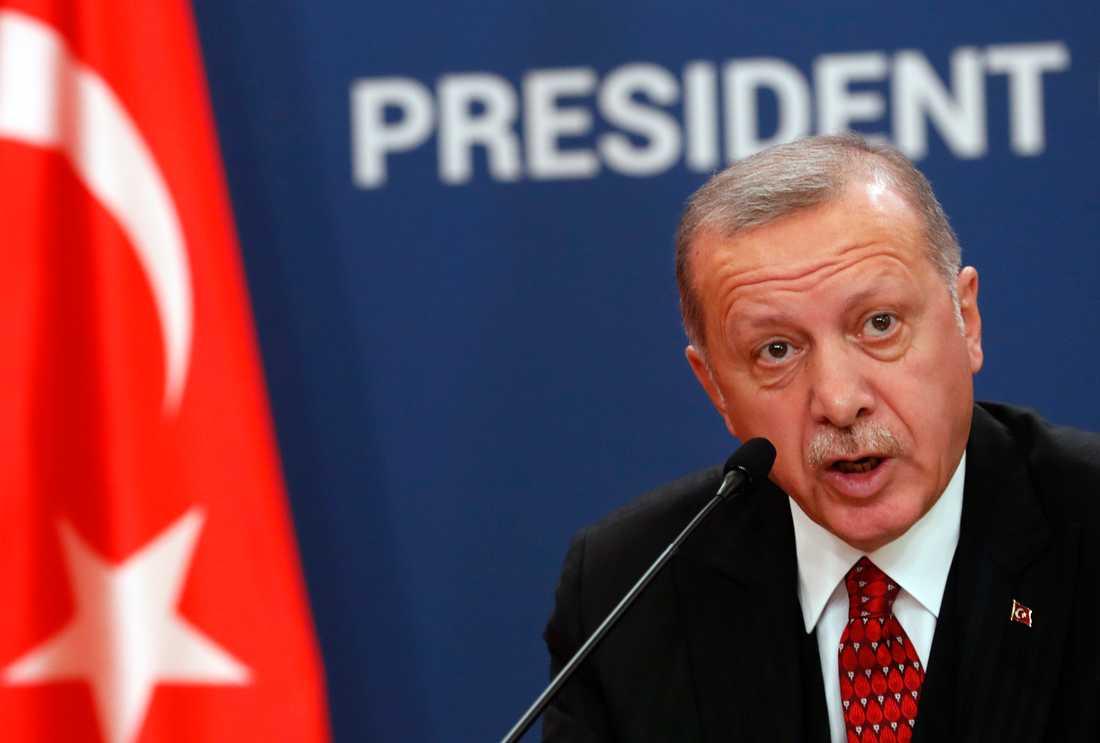 Turkiets president, Recep Tayyip Erdogan. Arkivbild