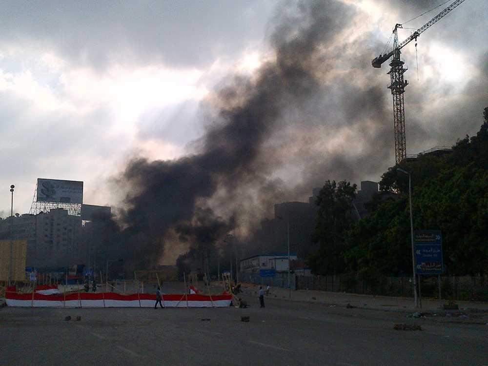 Den egyptiska regeringen uppger att Nahda-torget i västra Kairo har röjts helt på demonstranter.