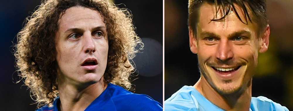 David Luiz och Markus Rosenberg.
