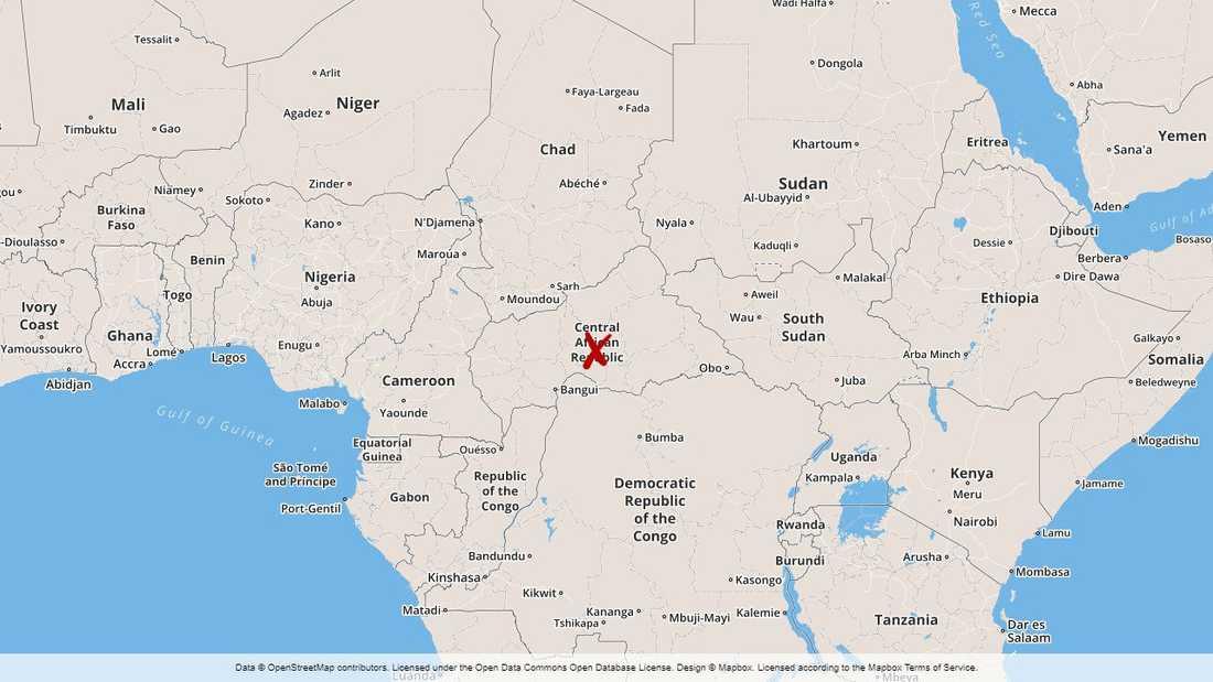 Centralafrikanska republiken.
