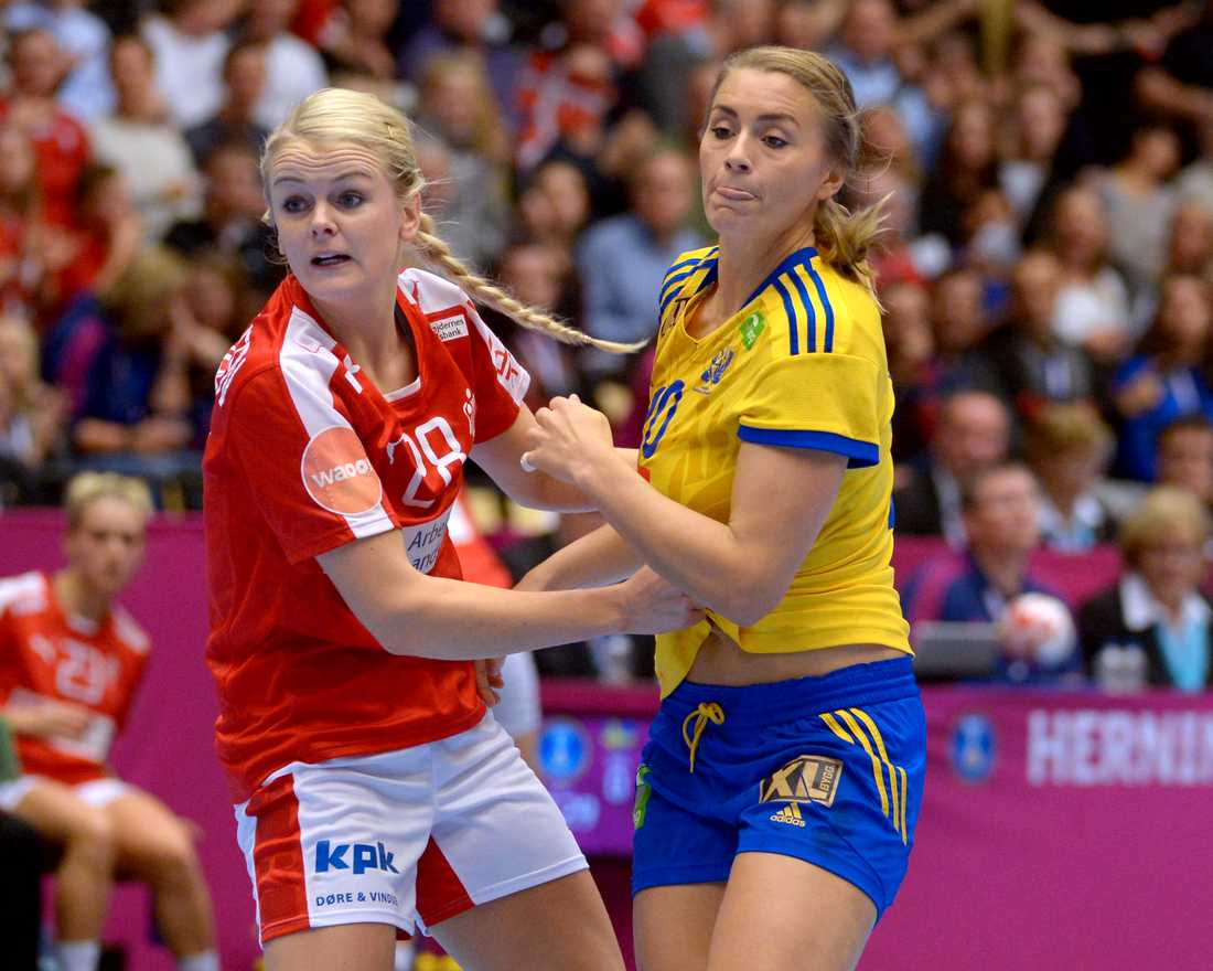 Gulldén och de andra svenska spelarna kom ingenvart i andra halvan av första halvlek.