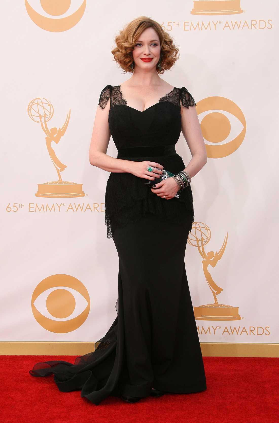 Christina Hendricks Christian Siriano fick äran att pryda Hendricks fabulösa kurvor.