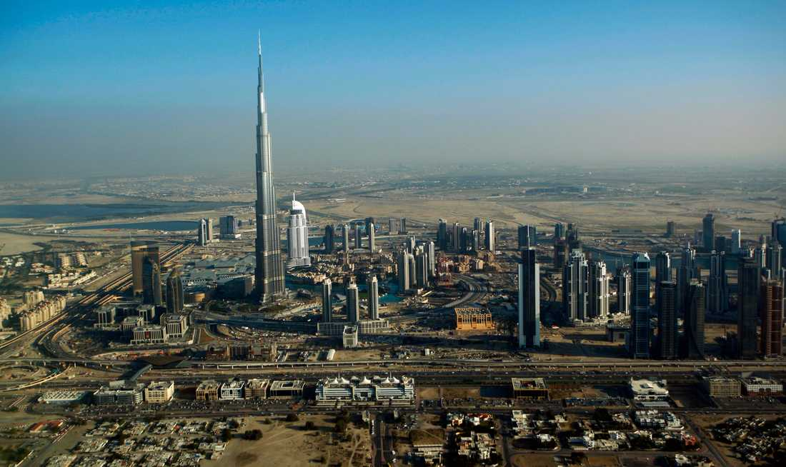 Burj Khalifa i Dubai, 828 meter högt.