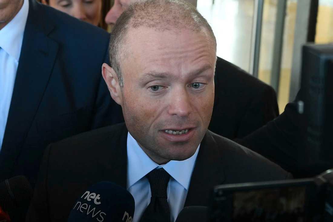 Maltas premiärminister Joseph Muscat. Bilden är tagen den 20 november.