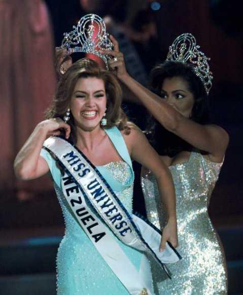 Alicia Machado blev vald till Miss Universum 1996.