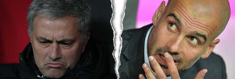 Mourinho och Guardiola har hamnat i gräl igen.