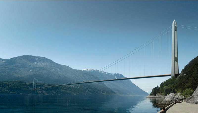 Resan mellan Oslo och Bergen blir lättare när Hardangerbron öppnar. Bron blir den sjunde längsta i världen. Japan har den längsta.
