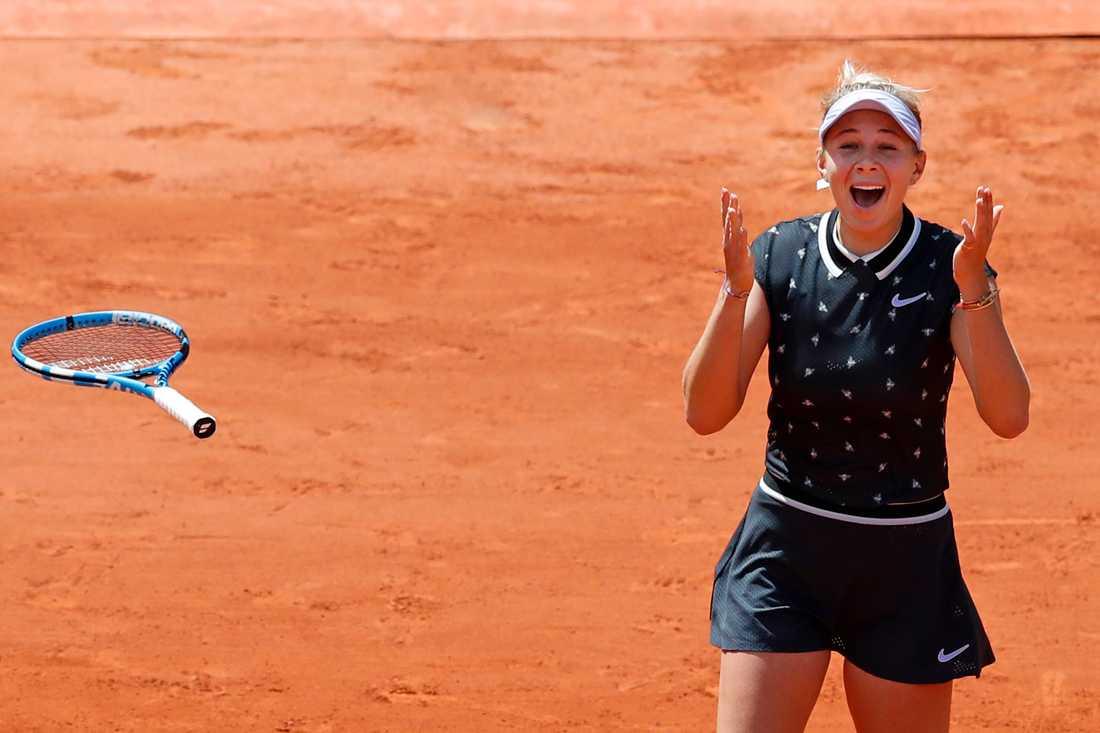 Amanda Anisimova klar för semifinal i Franska mästerskapen.