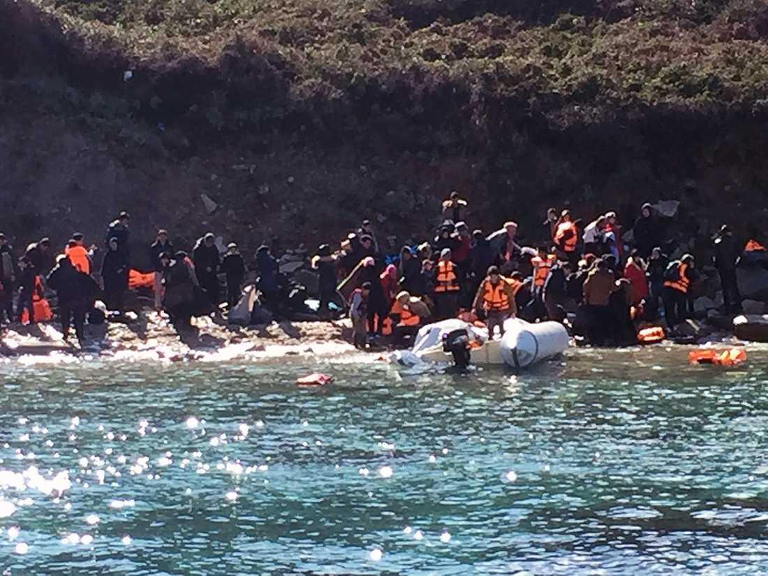 88 personer räddades av Gula båtarna.