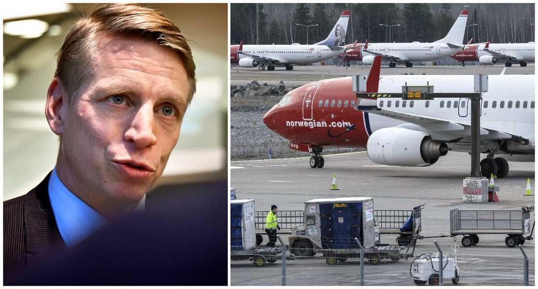 Norwegian ställer in två flyglinjer till USA och skyller på flygskatten.