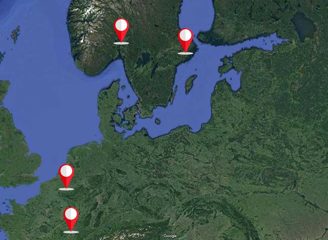 20-åringen flydde från Norge till Frankrike, via Sverige och Belgien, enligt uppgifter till Aftonbladet.