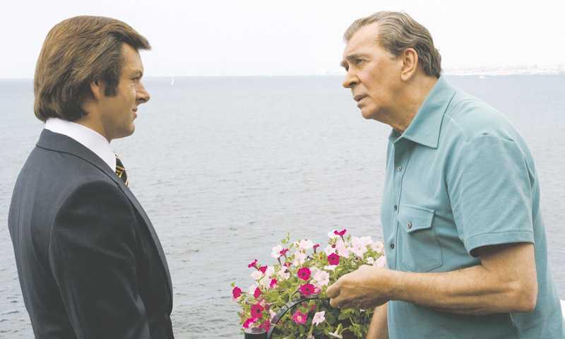 """Michael Sheen som Frost och Frank Langella som Nixon imponerar rejält i proffsigt regisserade """"Frost/Nixon""""."""