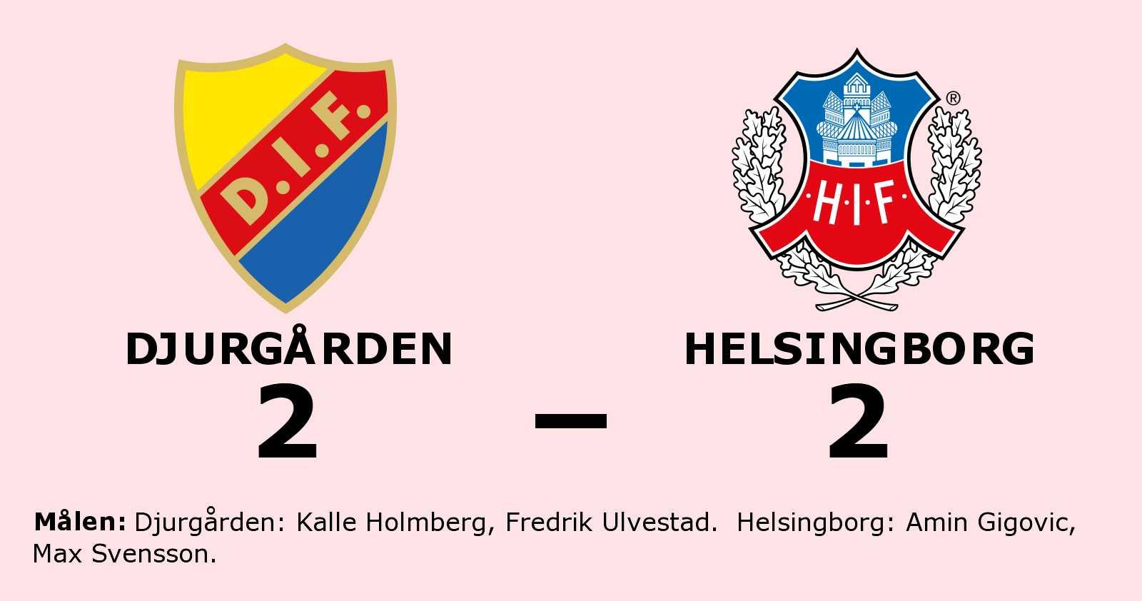 Helsingborg kryssade mot Djurgården