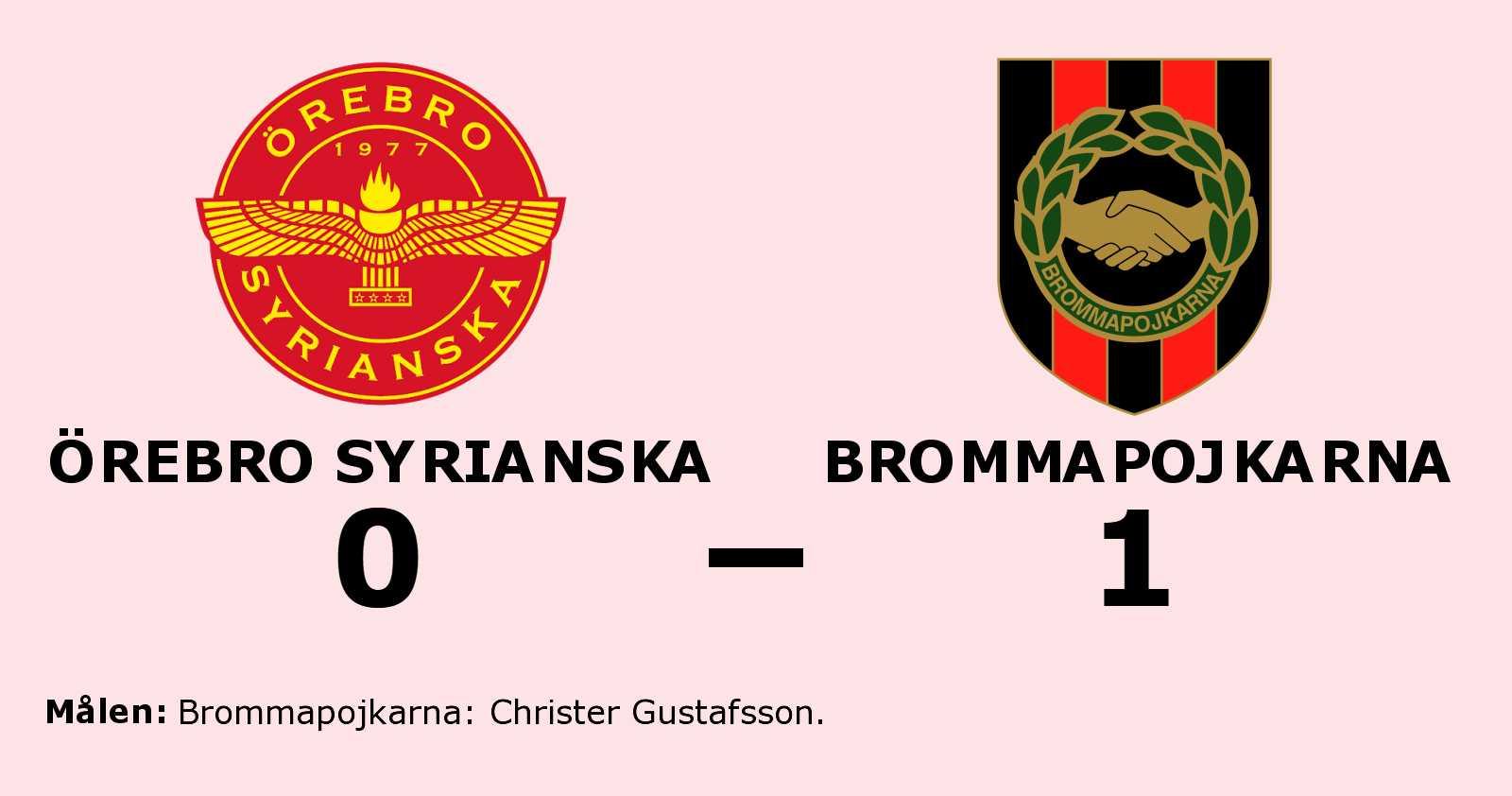 Christer Gustafsson matchhjälte för Brommapojkarna