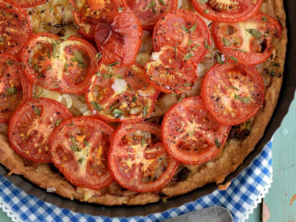 Läcker tomatpaj –  med fransk senap