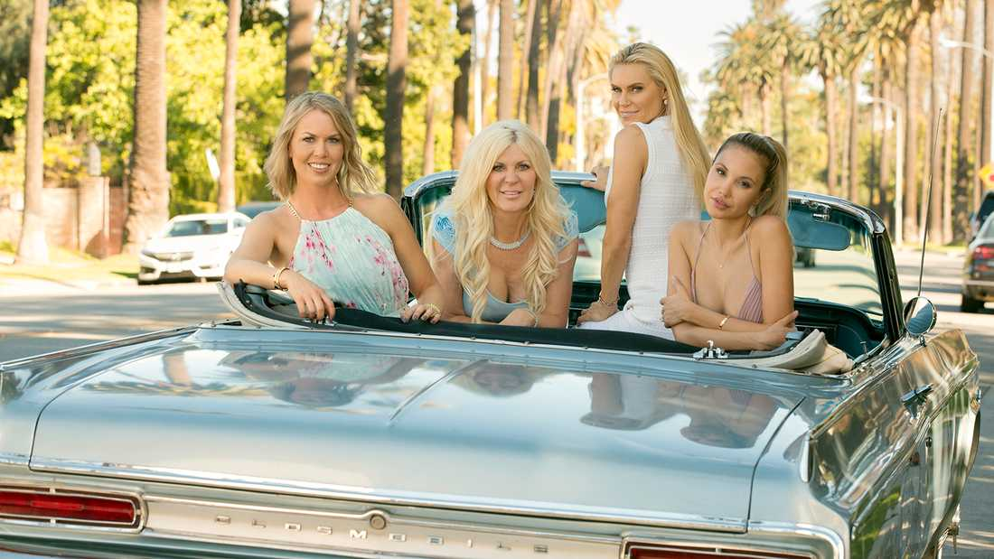 Svenska Hollywoodfruarna 2018, från vänster Sofie, Maria, Anna och Elena.