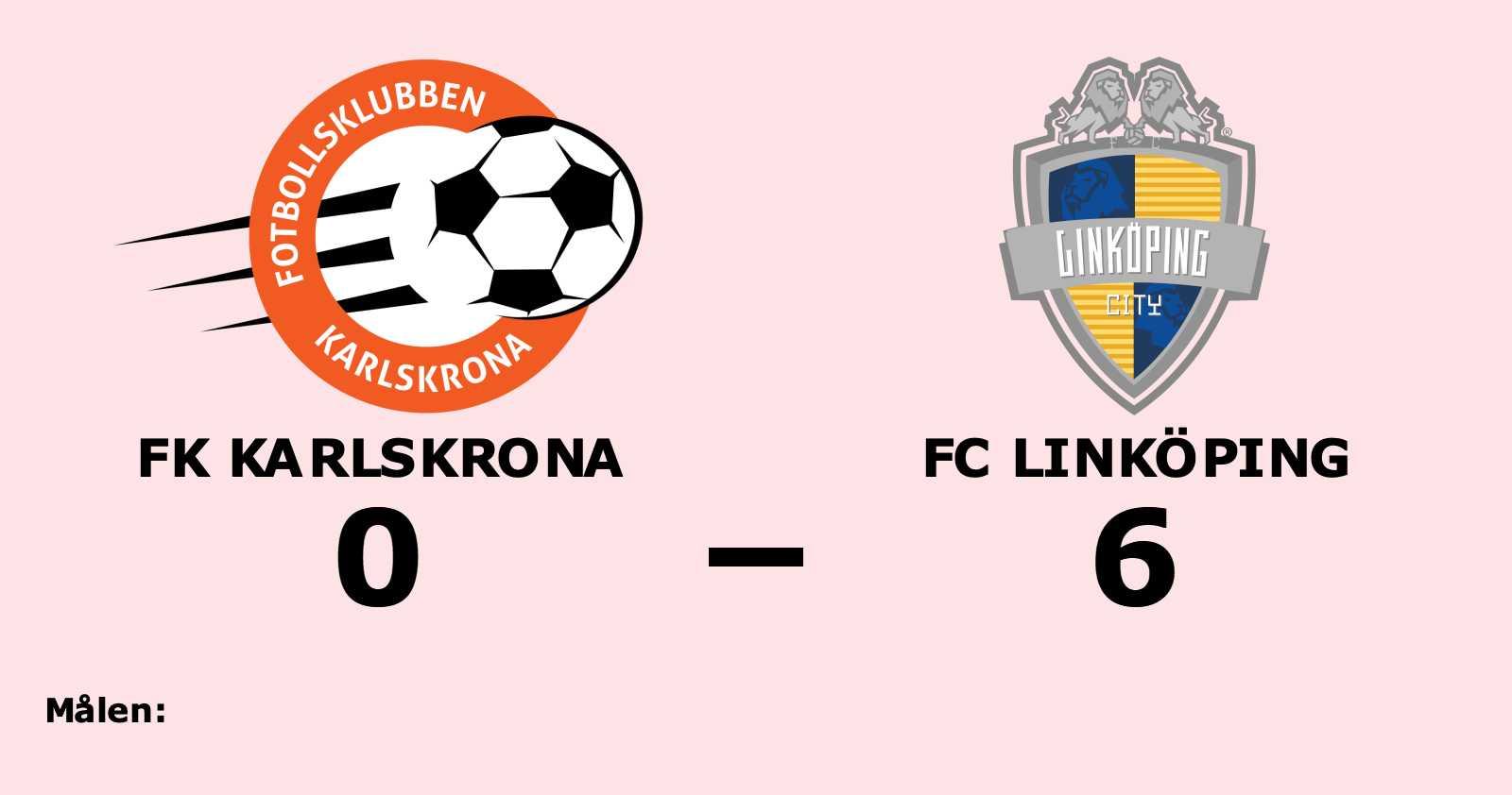 Storseger för FC Linköping borta mot FK Karlskrona