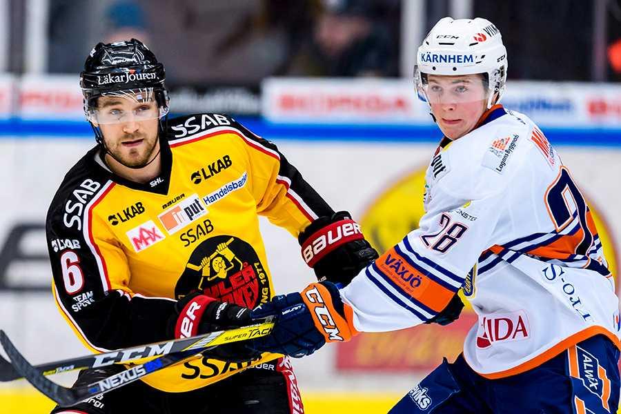 Nils Carnbäck under matchen mot Luleå