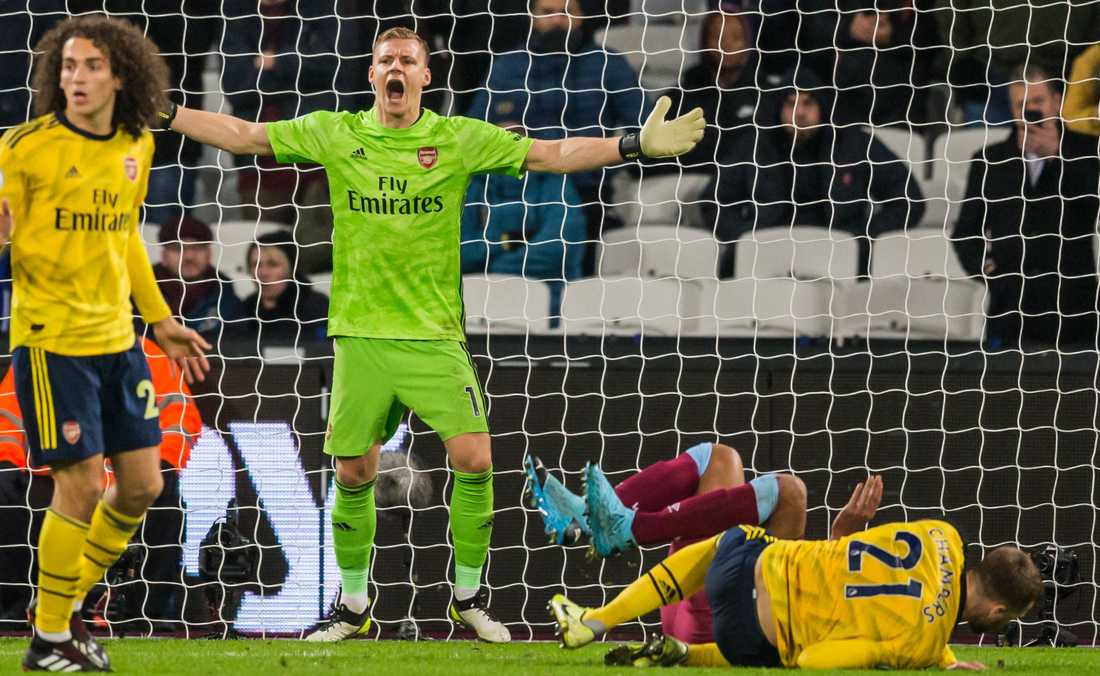 Bernd Leno i Arsenals mål