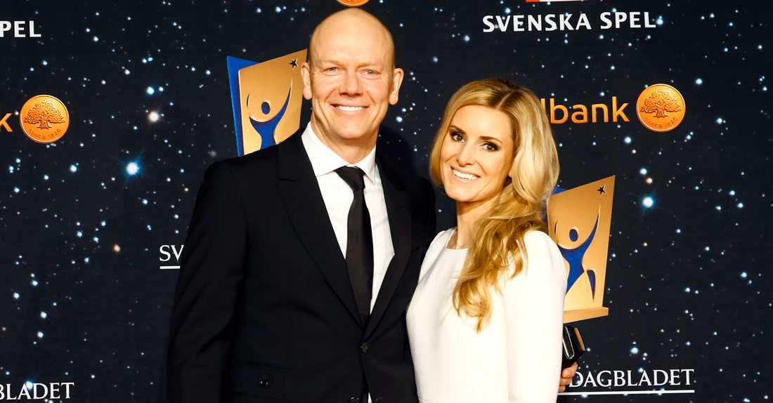 Mats Sundin med hustru Josephine