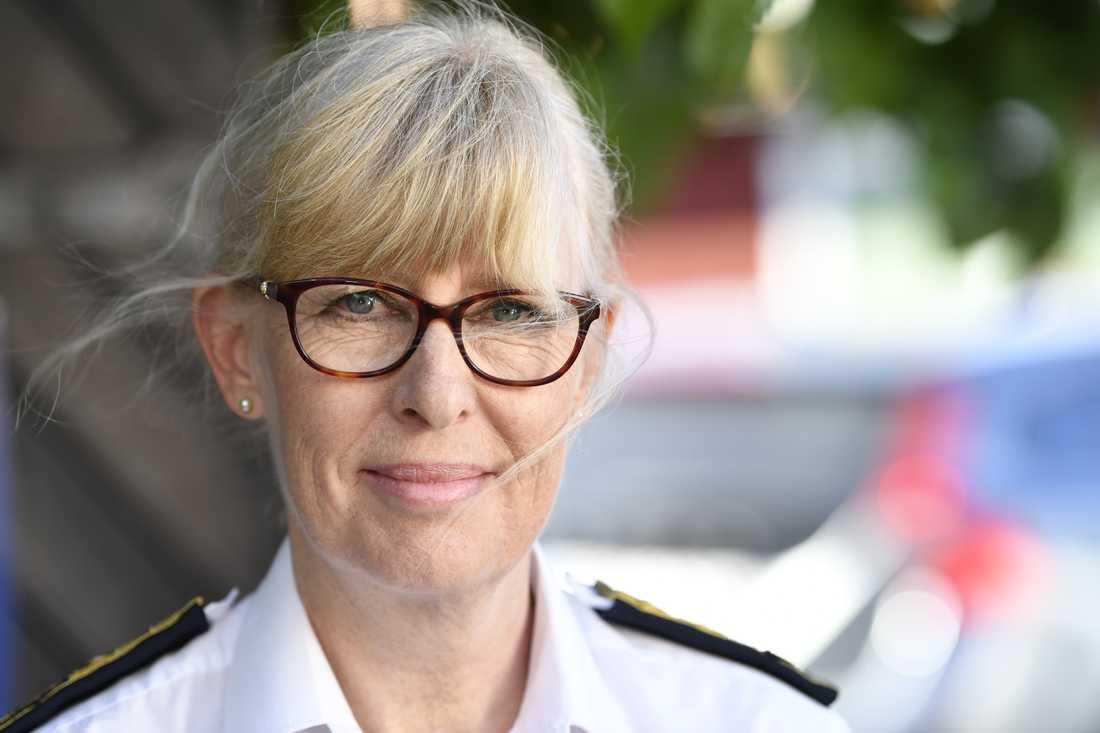 Nytillträdde Mustchefen Lena Hallin under politikerveckan i Almedalen.