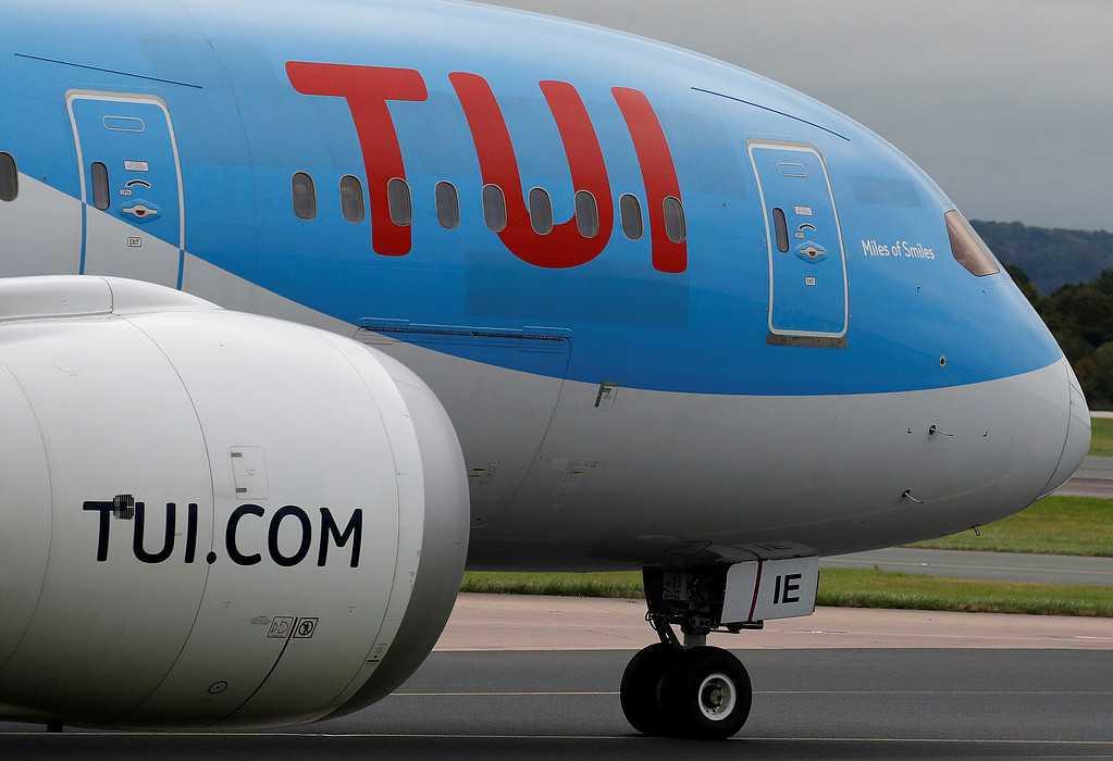 Ett flygplan tillhörande Tui.