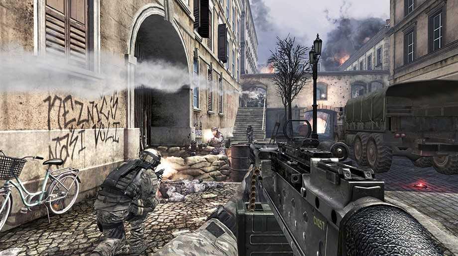 Populära spelet Modern Warfare 3.