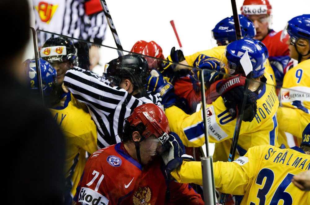 Stort bråk mellan Tre Kronor och Ryssland.
